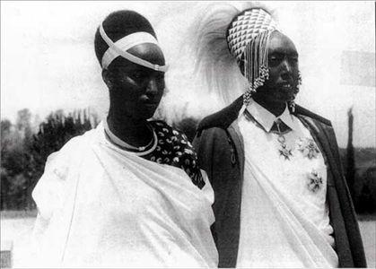 King Mutara Rudahigwa+Queen Gicanda Rwanda