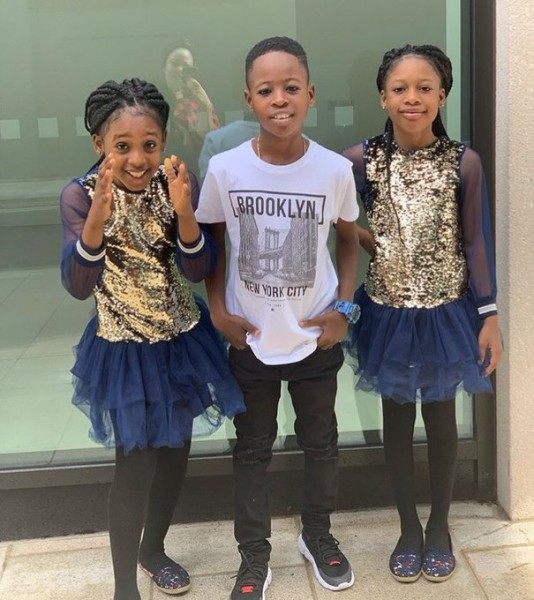 2019_royal triplets of Oyo Kingdom , Nigeria