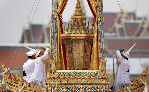 funeral pyre of Thai Princess Galyani Vadhana