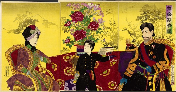 A Mirror of Japanese Nobility_by Toyohara Chikanobu, August 1887