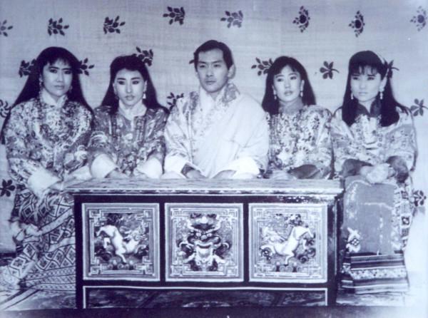 BhutanHMTheKingWivesTomClaytor