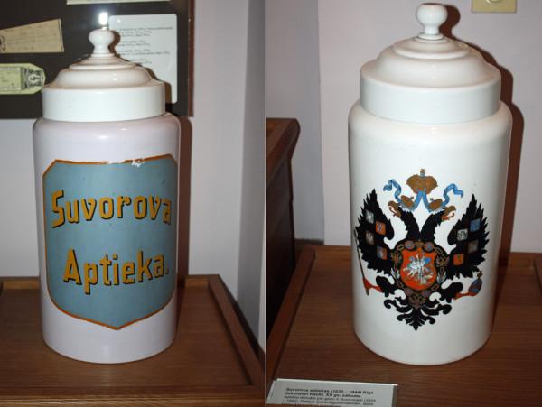 Декоративные склянки стоявшие в Риге в аптеке Суворова2