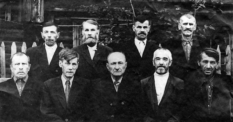 Ветераны Гражданской войны Бисерского завода. Июль 1957 г.