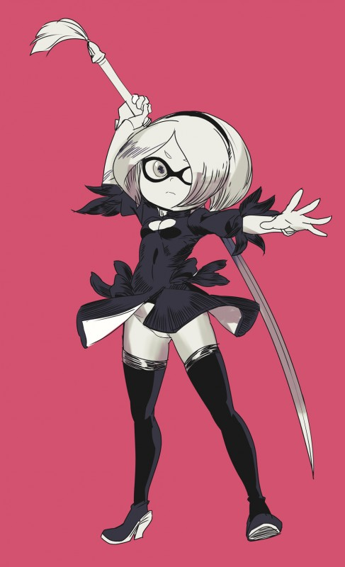 __inkling_and_yorha_no_2_type_b_splatoon_series_and_etc_drawn_by_ontaros__12b2188741a8748df953d4d6c6ca2987