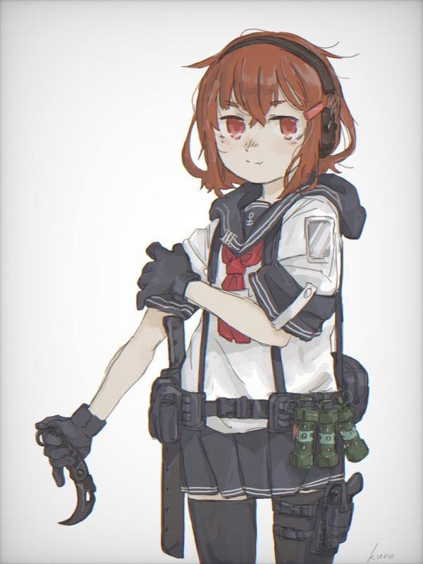 __ikazuchi_kantai_collection_drawn_by_kuro4221__085fa5eae5e9a53f1e254bda86a3a6cd