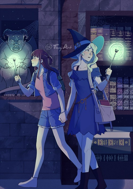 __diana_cavendish_and_kagari_atsuko_little_witch_academia_drawn_by_ticcy__8236dc69937c692c17b2524a9f398627