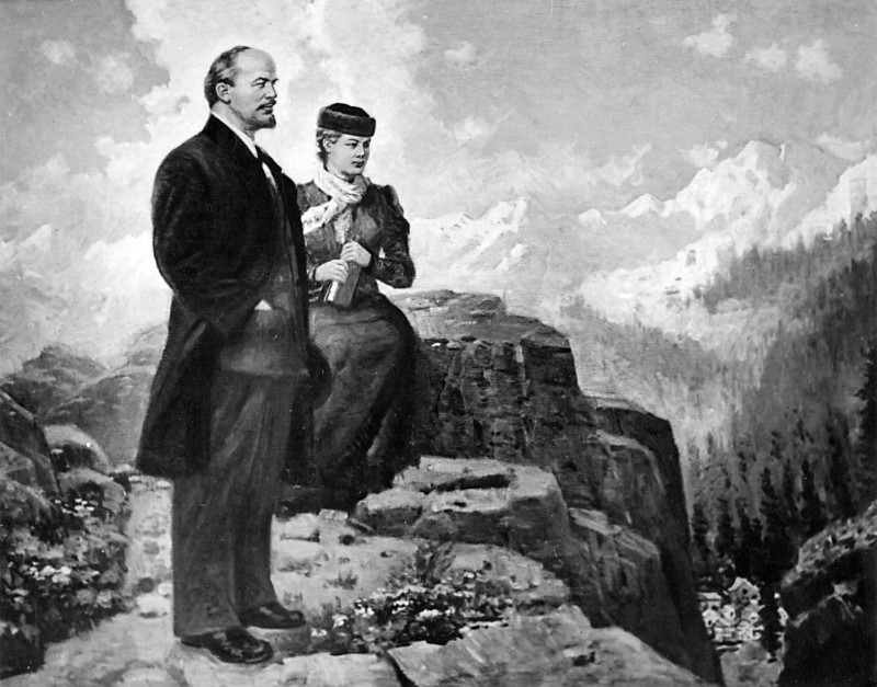 Вепхвадзе Иван. Ленин и Крупская в Швейцарии
