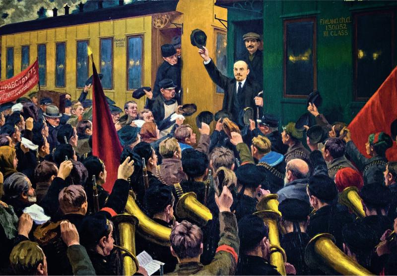 ПРИЕЗД ЛЕНИНА В ПЕТРОГРАД 3 АПРЕЛЯ 1917 ГОДА
