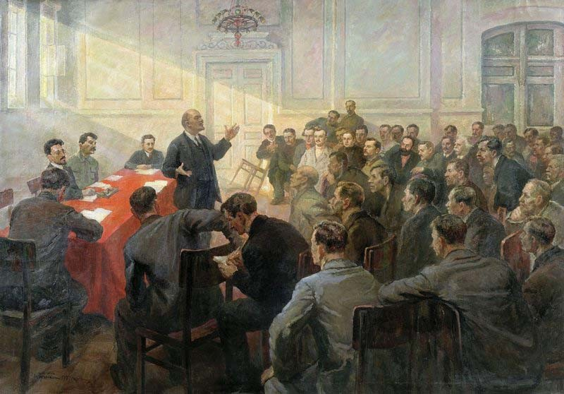 П.Д.Бучкин. Ленин на Апрельской конференции РСДРП(б)
