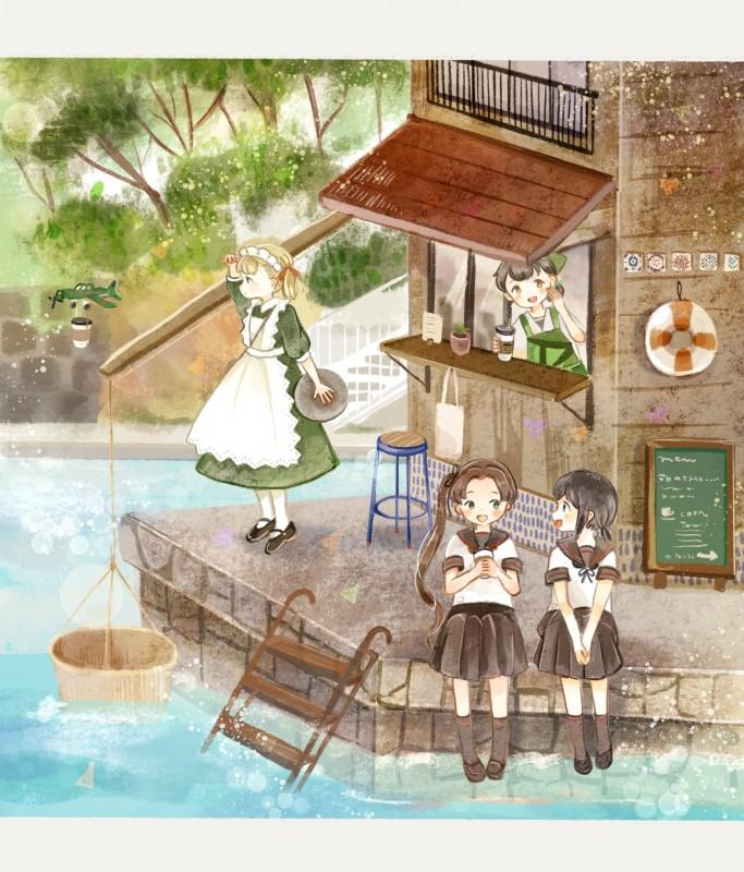 __ayanami_fubuki_kasuga_maru_shin_you_and_taiyou_kantai_collection_drawn_by_onigiri_ginseitou__0237bd683619c02484556b3ad2aaa8ca