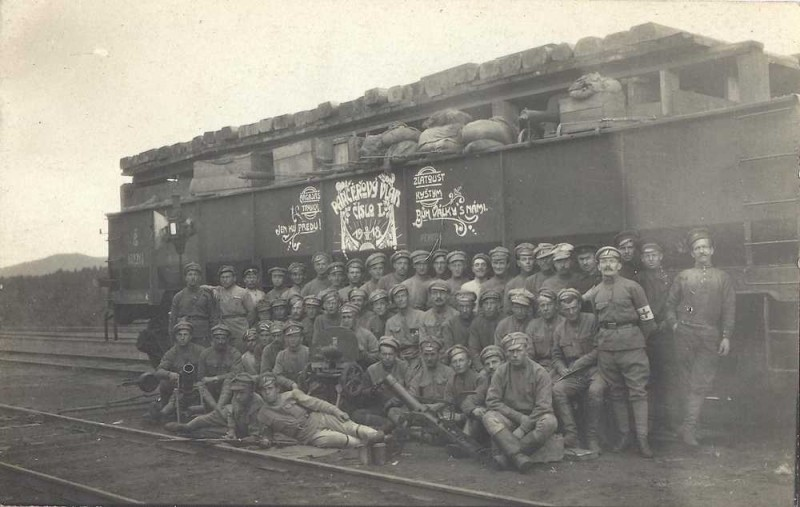 Náš 1. broněvik 1918. 3. kulometná rota III. pluku