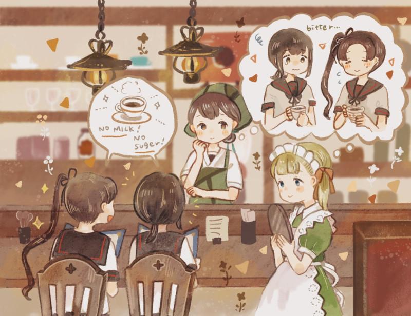 __ayanami_fubuki_kasuga_maru_shin_you_and_taiyou_kantai_collection_drawn_by_onigiri_ginseitou__2dd7a7fa185c2acfd4bb268865f9c404