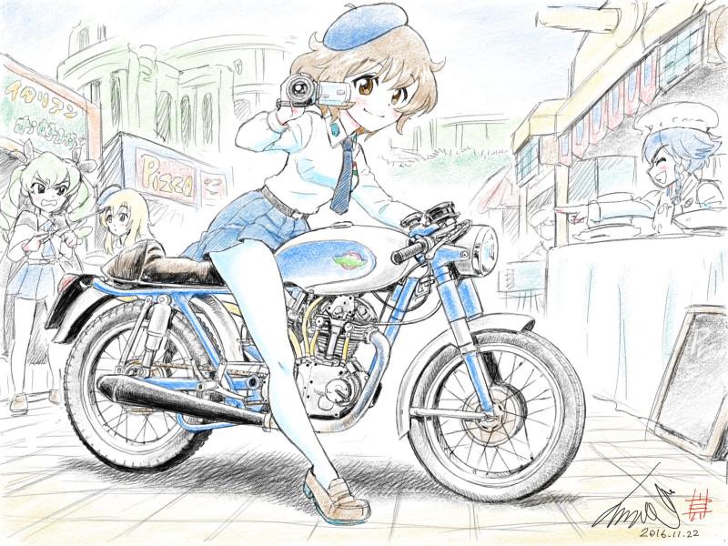 __akiyama_yukari_anchovy_carpaccio_and_pepperoni_girls_und_panzer_drawn_by_kubota_shinji__106923de5a321086e94ae846f6a417d9