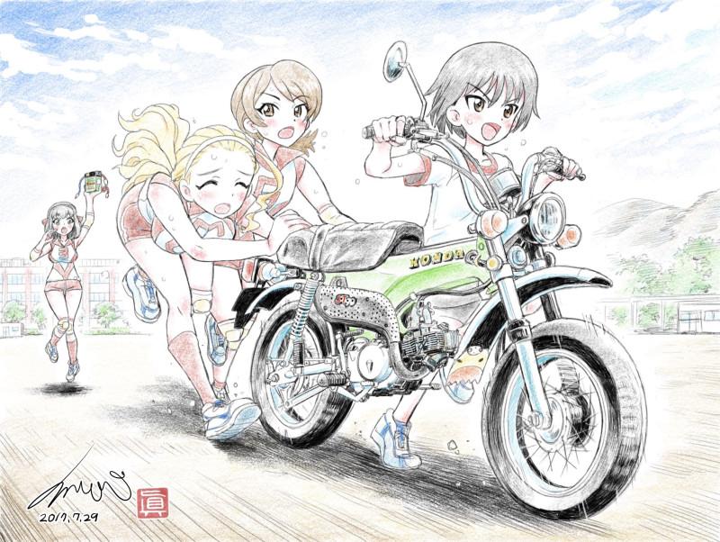 __isobe_noriko_kawanishi_shinobu_kondou_taeko_and_sasaki_akebi_girls_und_panzer_drawn_by_kubota_shinji__615b9cde9b171f94887b353c0247f03d