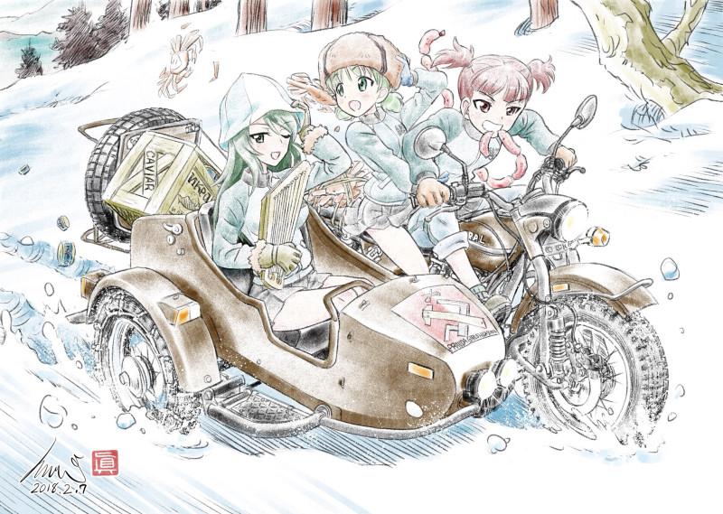 __aki_mika_and_mikko_girls_und_panzer_drawn_by_kubota_shinji__a570421b0510eff962635c09d572acc1