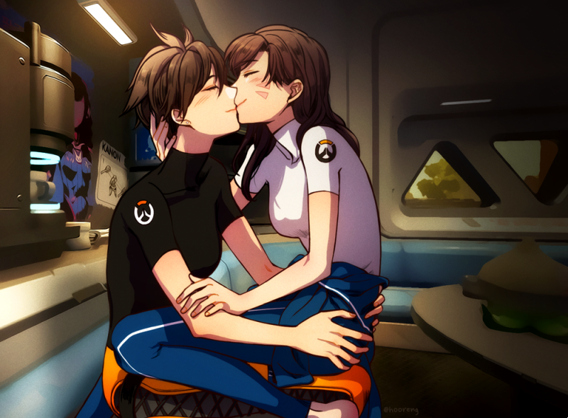 __d_va_and_tracer_overwatch_drawn_by_hooreng__ddedebb92b7af662b45441d57f5ae4e1