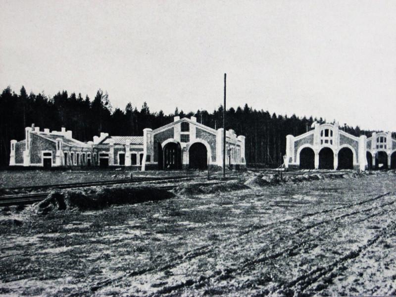 Паровозное депо на станции Кунгур. 1909 год