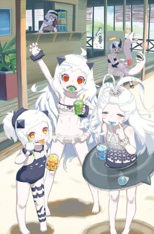 __northern_little_sister_isolated_island_oni_northern_ocean_hime_heavy_cruiser_hime_submarine_new_hime_and_etc_kantai_collection_drawn_by_kaku_choushi__f5cea90501a6852a38899c8c7d6915a7