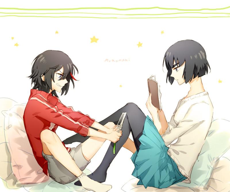 __kiryuuin_satsuki_and_matoi_ryuuko_kill_la_kill_drawn_by_muromaki__3f05ed594c25c3122d6e5b104dad683c