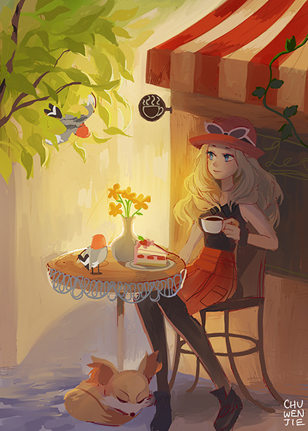 __serena_fennekin_and_fletchling_pokemon_and_2_more_drawn_by_chuwenjie__b605be5c05ca71afdbddf9859f732e5d