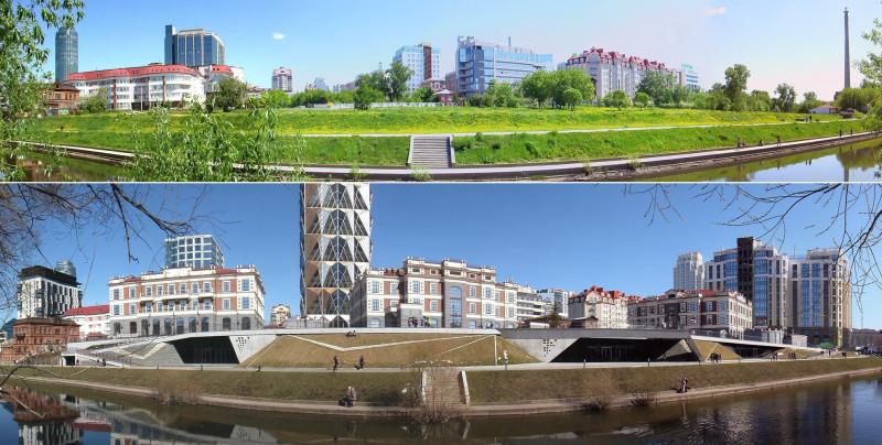 2013-2019 гг. Набережная реки Исеть.
