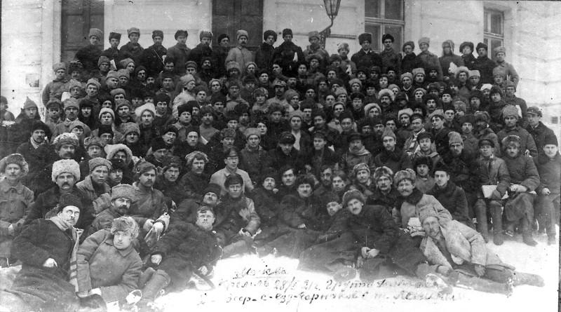 Ленин с делегатами съезда горняков 28.01.1921