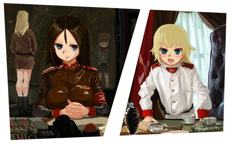 __katyusha_nonna_clara_and_nina_girls_und_panzer_and_1_more__96ec22e180eb3acbccf51355138cc925