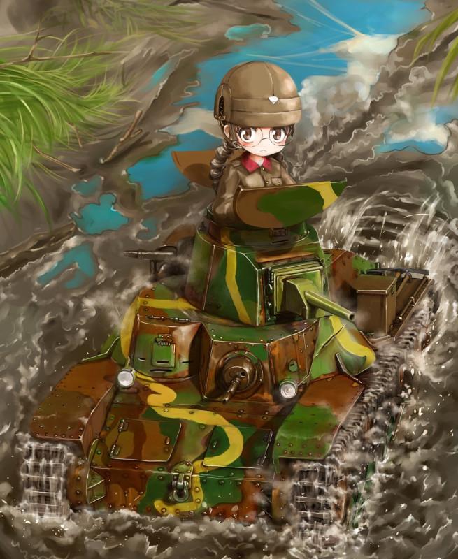 __fukuda_girls_und_panzer_drawn_by_shasu_lastochka__bf3293b9ea8d8de54c91d9eee5b9fbb9