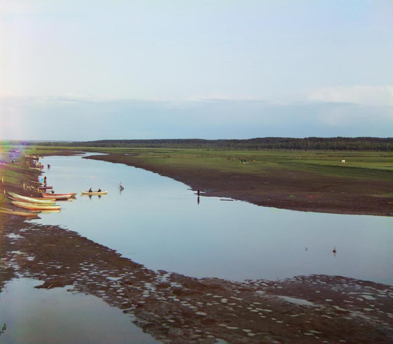 Река Пышма у г. Камышлова. [1912 год]