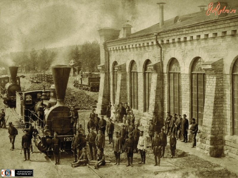 Паровоз В-209 в депо Златоуст,Челябинская область
