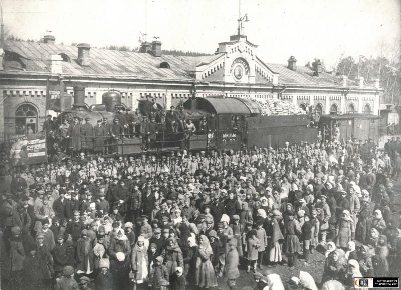 Паровоз Э-68 на железнодорожной станции Златоуст