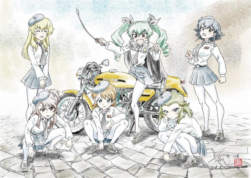 __amaretto_anchovy_carpaccio_gelato_panettone_and_others_girls_und_panzer_drawn_by_kubota_shinji__0a458afc6a5f7de97f78266da83b571b