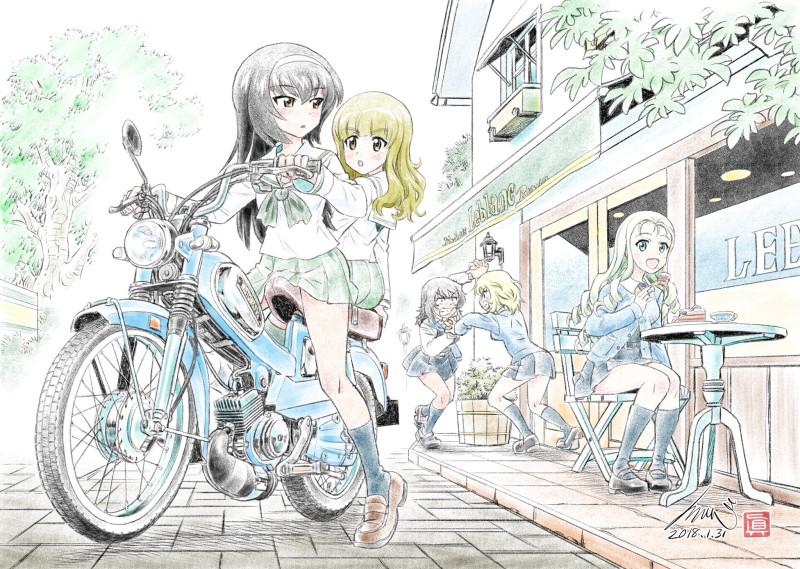 __andou_marie_oshida_reizei_mako_and_takebe_saori_girls_und_panzer_drawn_by_kubota_shinji__7794a6950d51b8553b905b5f3babd709
