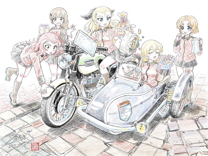 __assam_darjeeling_orange_pekoe_rosehip_and_rukuriri_girls_und_panzer_drawn_by_kubota_shinji__f21c9bfdd264f17533109c72c2b291dc