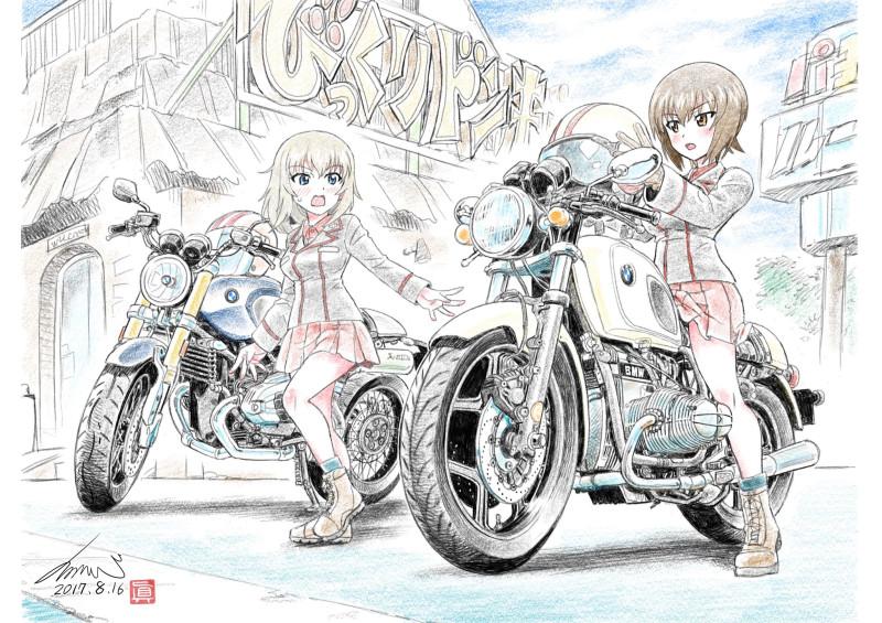 __itsumi_erika_and_nishizumi_maho_girls_und_panzer_drawn_by_kubota_shinji__d180e35f9e5779d935d43d3342a373f1