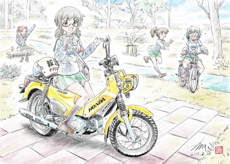 __kadotani_anzu_kawashima_momo_koyama_yuzu_and_ou_taiga_girls_und_panzer_drawn_by_kubota_shinji__0a3aed2402bac67d372ee25bebbbf9f4