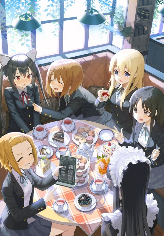 __akiyama_mio_nakano_azusa_hirasawa_yui_tainaka_ritsu_and_kotobuki_tsumugi_k_on_drawn_by_huskk__4a88630e3de11b52bd8f5b07778a64f1