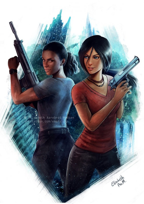uncharted___chloe_and_nadine_by_emeraldus-dcd659j