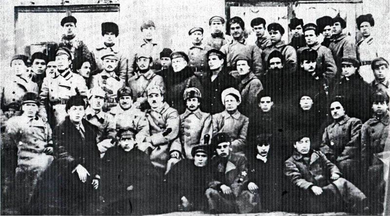 Командный состав частей особого назначения Кустанайского уезда. г. Кустанай, 1920 г.
