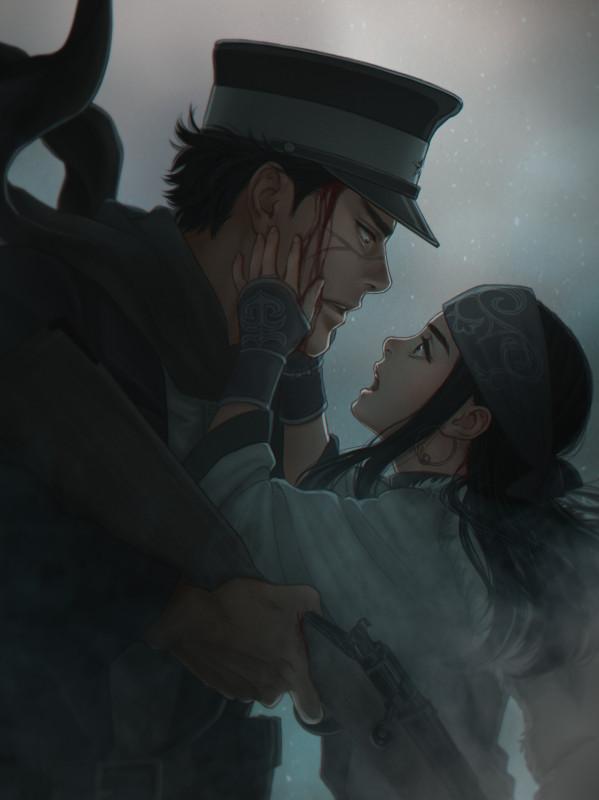 __asirpa_and_sugimoto_saichi_golden_kamuy_drawn_by_mprichin__bfd067121970e69647a6fae8b5bc3031