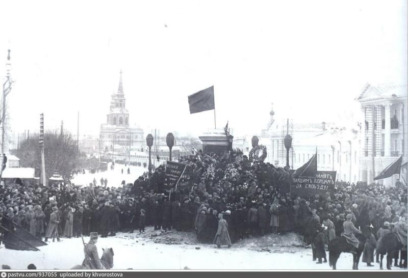 Похороны погибших в стычках с дутовцами, февраль 1918