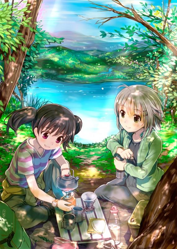 __yukimura_aoi_and_kuraue_hinata_yama_no_susume_drawn_by_mikazuki_akira__716b32e693dd78f4ec957e206a33eceb