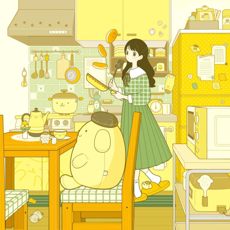 __pompompurin_original_and_1_more_drawn_by_yoshimon__deb7b4555ab524ae502478db6b865cda