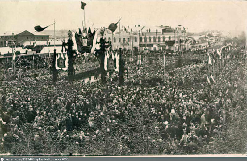 Манифестация на Кафедральной площади