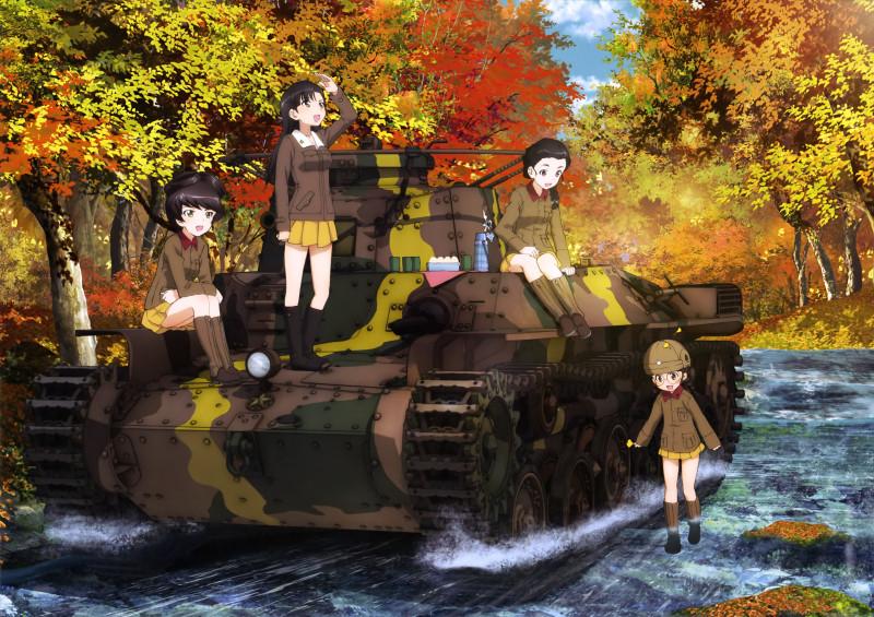 __fukuda_hosomi_nishi_kinuyo_and_tamada_girls_und_panzer__e13389aa3ed298963982cfaf002b6f50