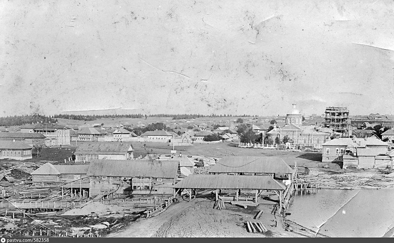 Село Ашап. Строительство Троицкой церкви.1900-е гг.