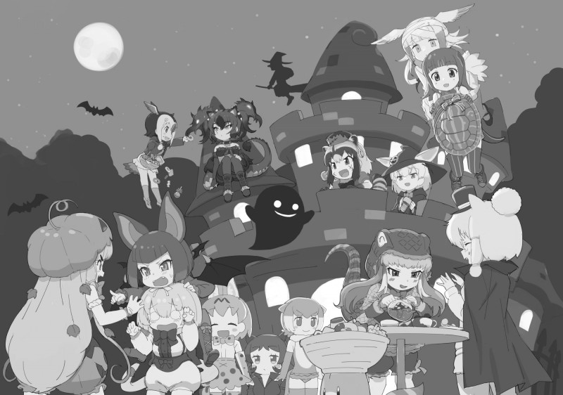 __japanese_crested_ibis_common_vampire_bat_small_clawed_otter_red_eared_slider_atlantic_puffin_and_etc_kemono_friends_pavilion_and_etc_drawn_by_kanemaru_knmr_fd__93d252faa793a5aa37a987fc1d60c949