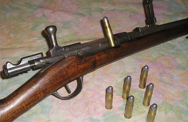 Винтовка Гра 1874 М80 с патронами