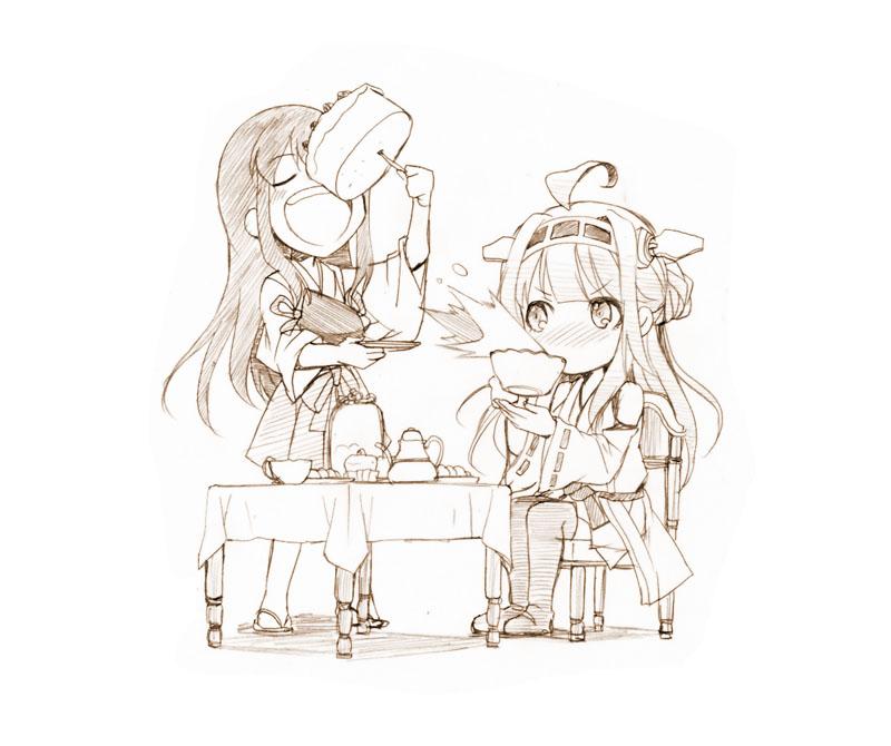 __akagi_and_kongou_kantai_collection_drawn_by_gekka_kaguya_urabata__7bb68edfba7d90fa3dd15b999b7c8898