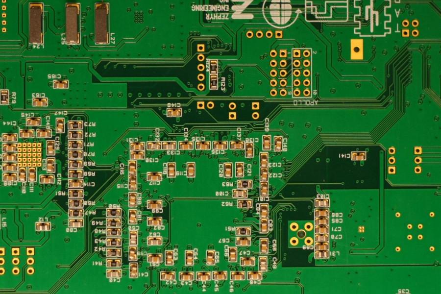 SMD components HERMES back side